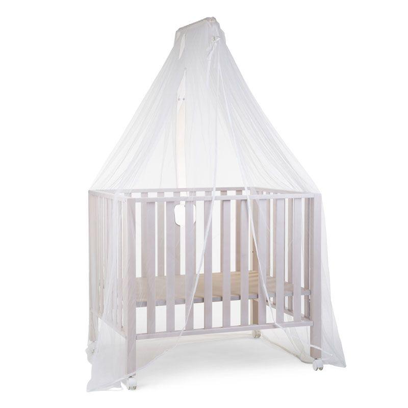 Baldahīns ar moskītu tīklu CHILDHOME Conopy Holder + Mosquito Net white