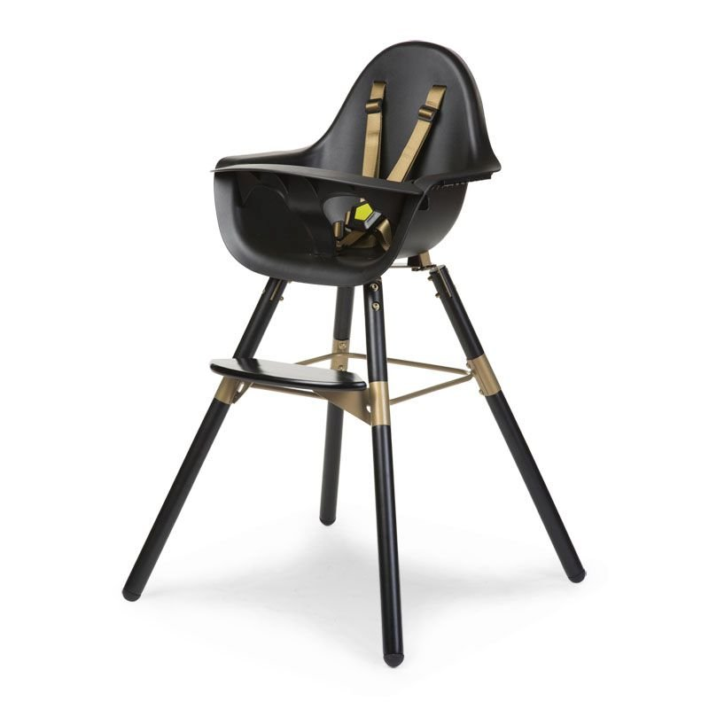 Barošanas krēsls 2 in 1 CHILDHOME Evolu 2 Chair black gold