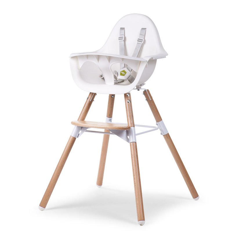 Barošanas krēsls 2 in 1 CHILDHOME Evolu 2 Chair white