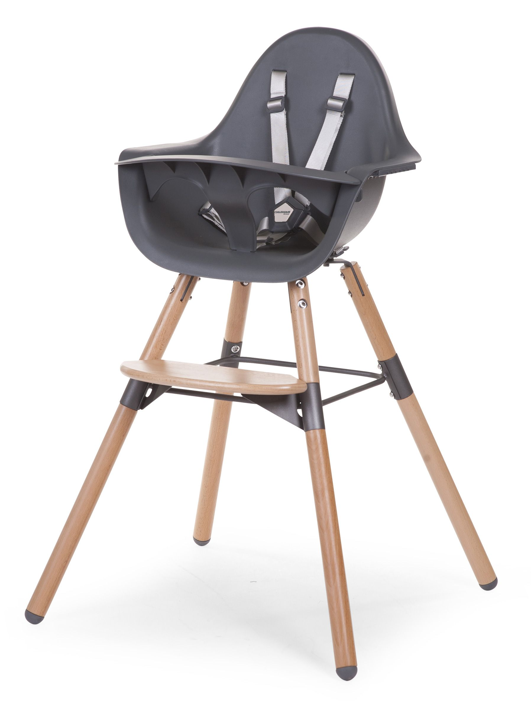 Barošanas krēsls 2in1 CHILDHOME Evolu 2 Chair Natural anthracite
