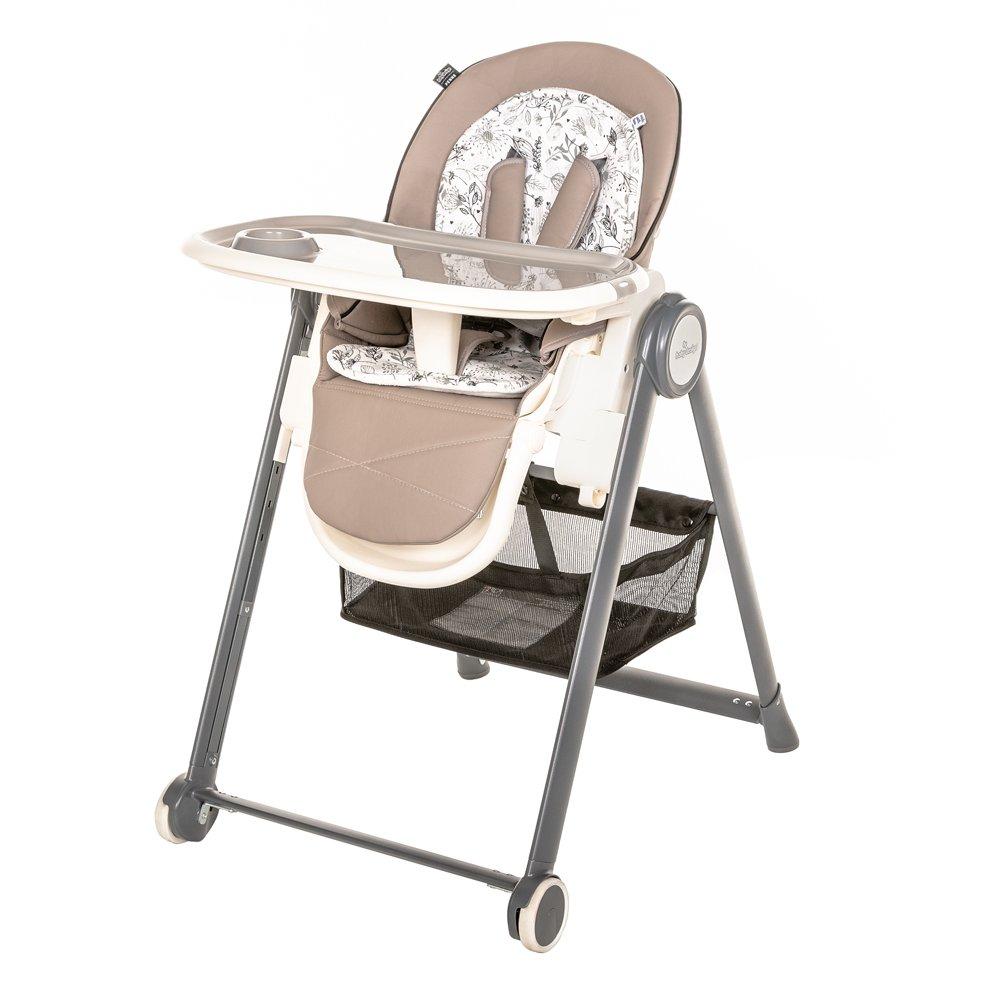 Barošanas krēsls ar mīksto ieliktni un guļampoziciju Baby Design PENNE 09 beige