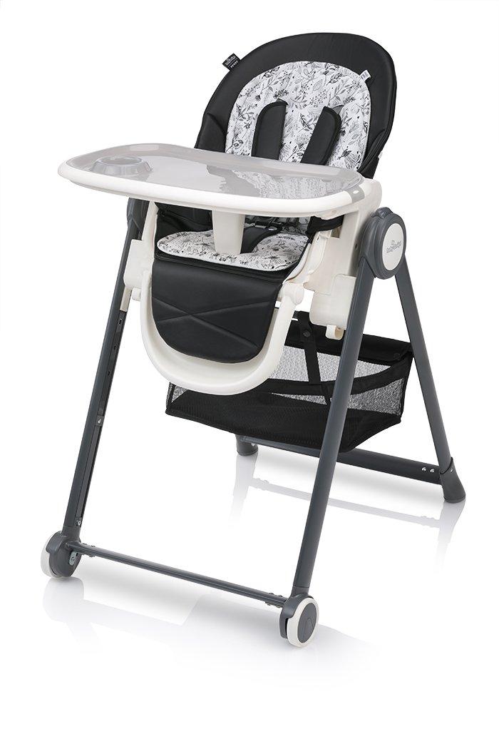 Barošanas krēsls ar mīksto ieliktni un guļampoziciju Baby Design PENNE 10 black