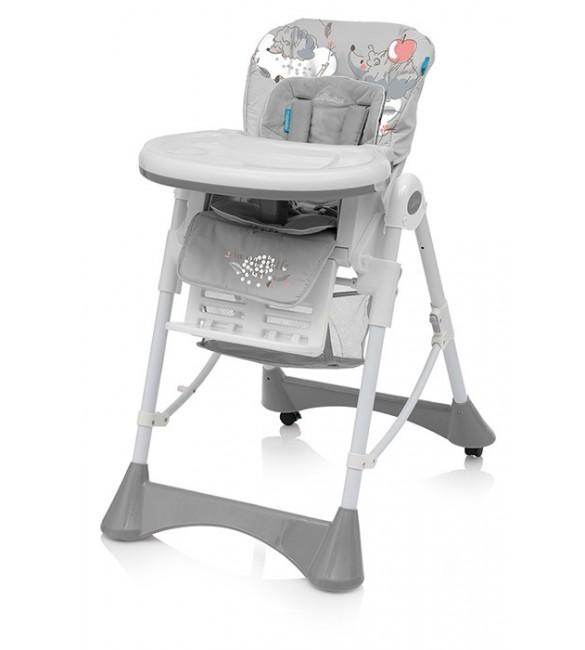 Barošanas krēsls ar velūra ieliktni Baby Design PEPE 07/HEDGEHOG (ezītis)