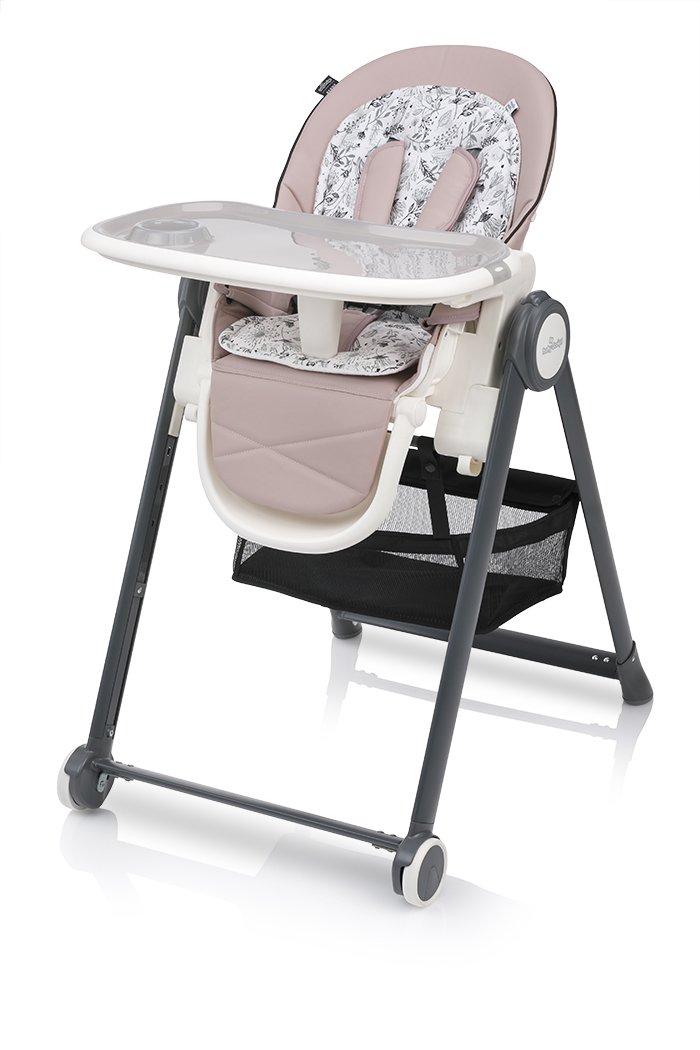 Barošanas krēsls Baby Design PENNE 08 pink ar mīksto ieliktni un guļampoziciju