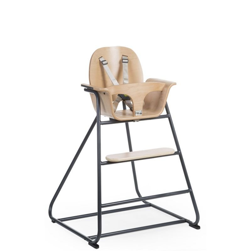 Barošanas krēsls CHILDHOME Ironwood Baby High Chair natural + anthracite