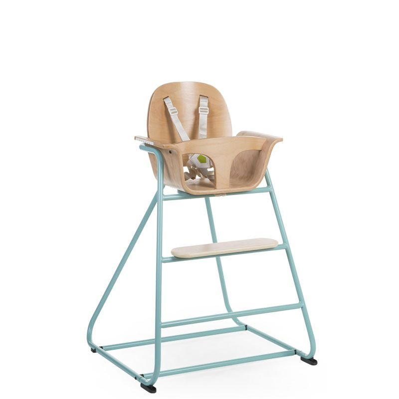 Barošanas krēsls CHILDHOME Ironwood Baby High Chair natural + mint