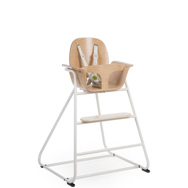 Barošanas krēsls CHILDHOME Ironwood Baby High Chair natural + white