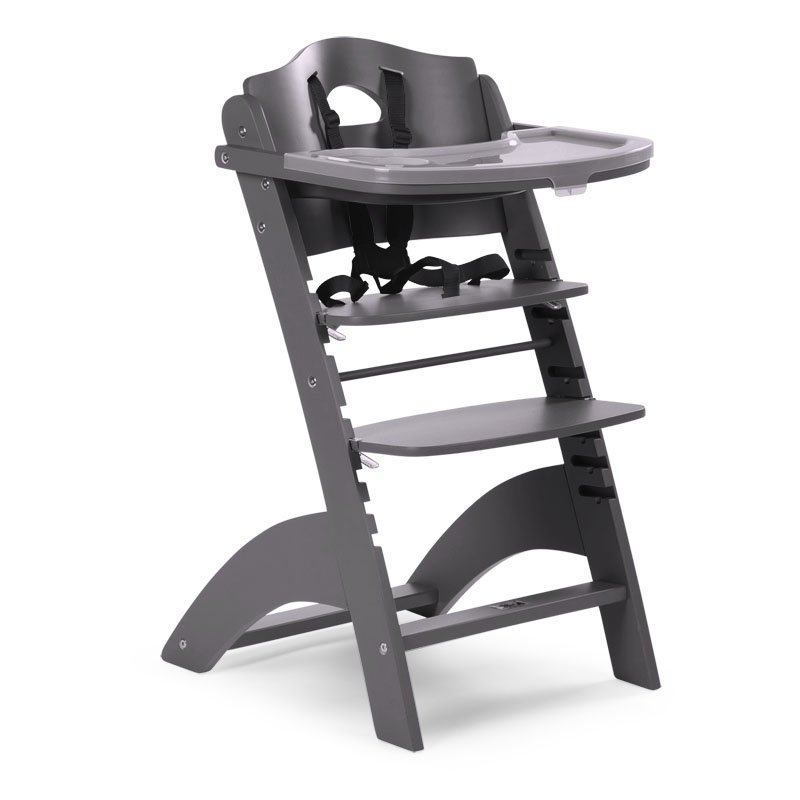 Barošanas krēsls CHILDHOME Lambda 2 Baby Grow Chair anthracite + Tray Cover