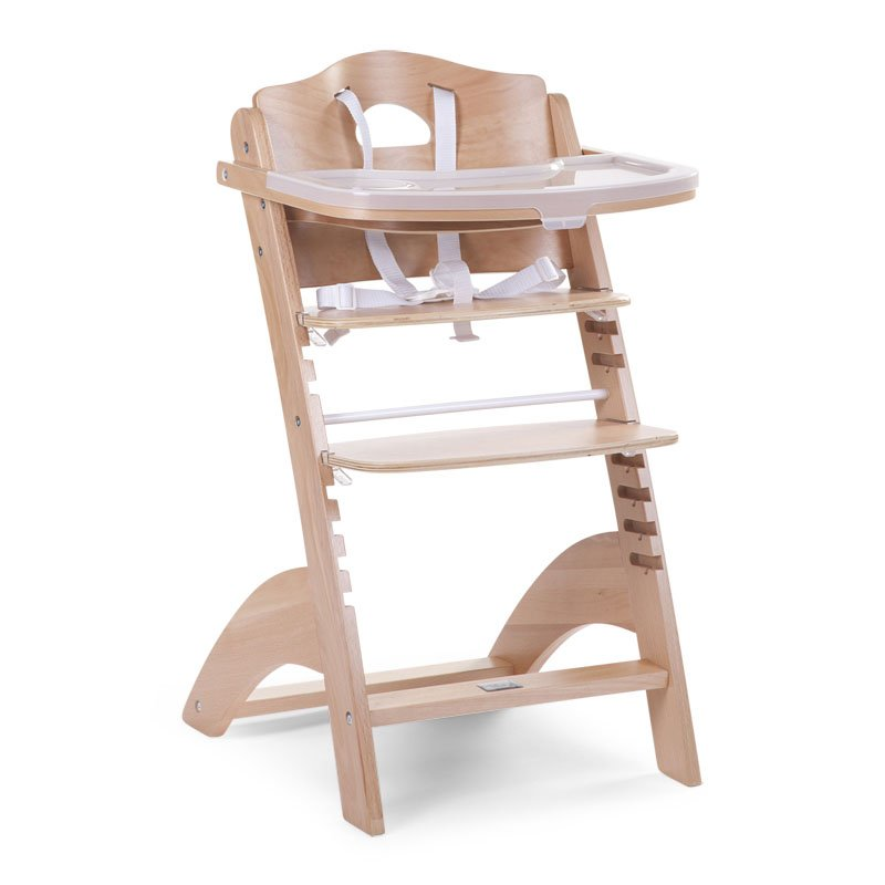 Barošanas krēsls CHILDHOME Lambda 2 Baby Grow Chair natural + Tray Cover