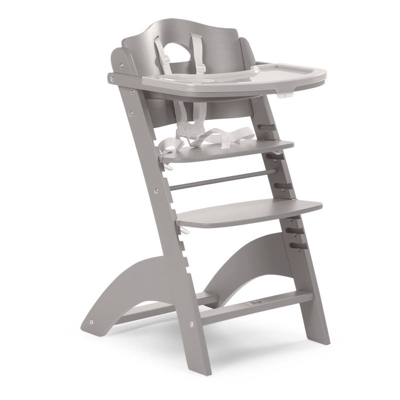 Barošanas krēsls CHILDHOME Lambda 2 Baby Grow Chair stone grey + Tray Cover