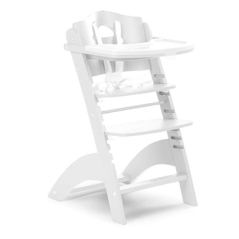 Barošanas krēsls CHILDHOME Lambda 2 Baby Grow Chair white + Tray Cover