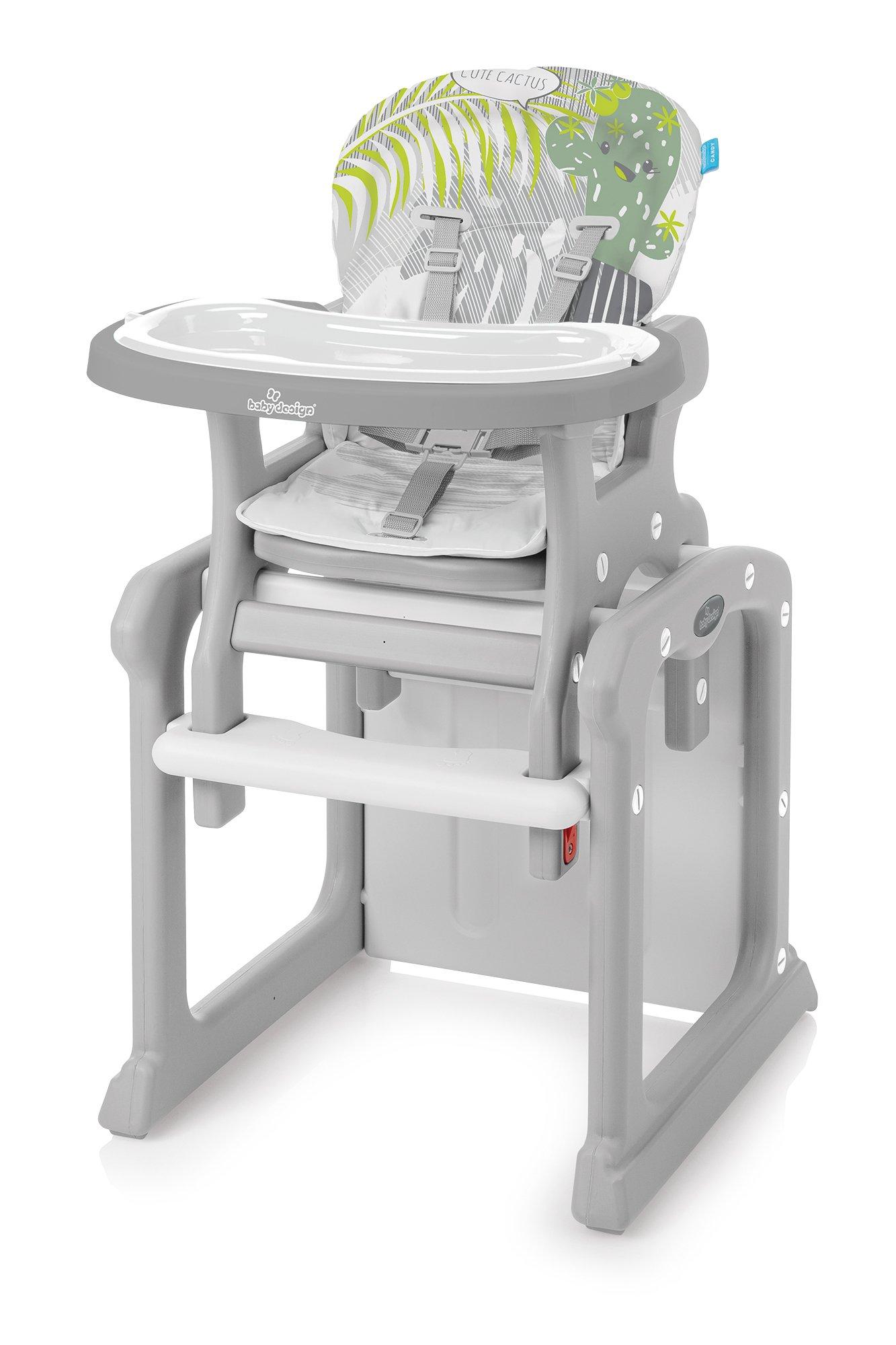 Barošanas krēsls - transformeris Baby Design CANDY CACTUS 07
