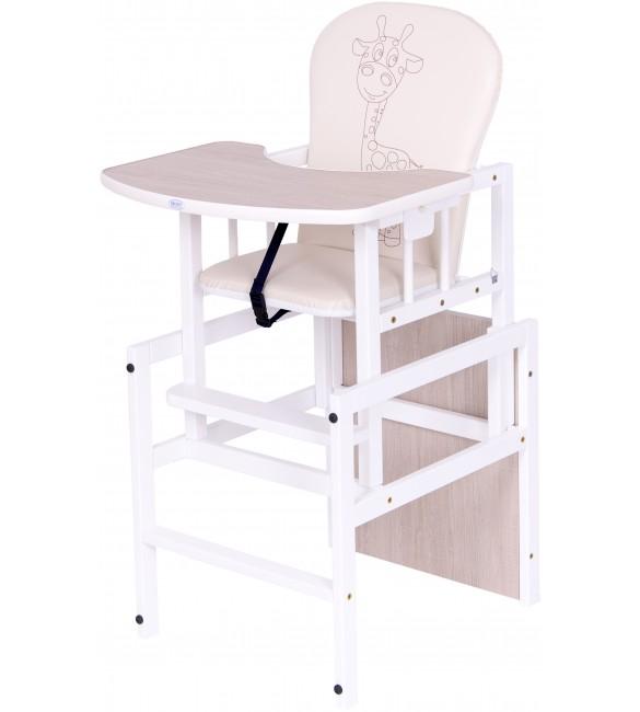 Barošanas krēsls - transformeris Drewex ANTOŠ GIRAFFE (Žyrafka) oak santana