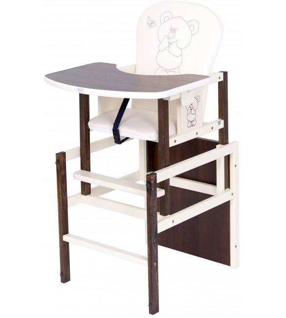 Barošanas krēsls - transformeris Drewex ANTOŠ - LITLLE BEAR and BUTTERFLY nut/riekstu