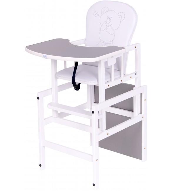 Barošanas krēsls - transformeris Drewex ANTOŠ - LITLLE BEAR and BUTTERFLY silver