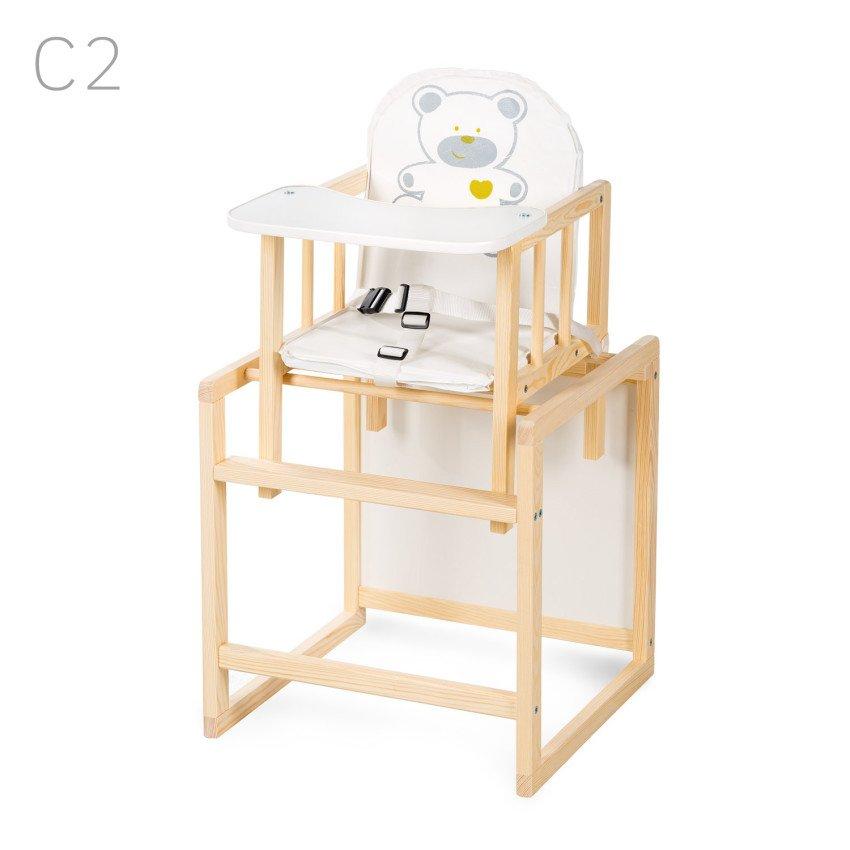Barošanas krēsls - transformeris Klups AGA I white bear