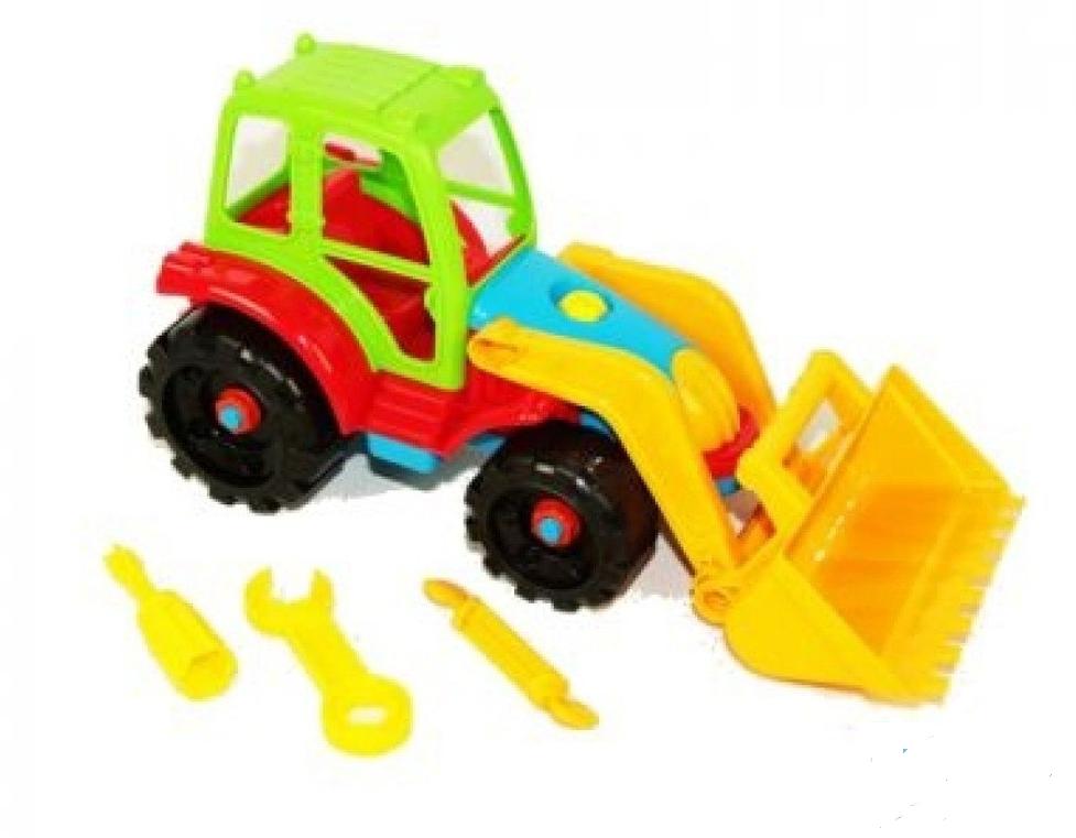 BebeBee Tractor Attīstošā rotaļlieta-konstruktors Traktors