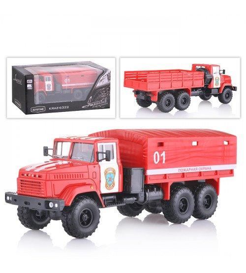 Bērnu automašīna KRAZ 6322 Ugunsdzēsēju mašīna 01 Kastē AG65086