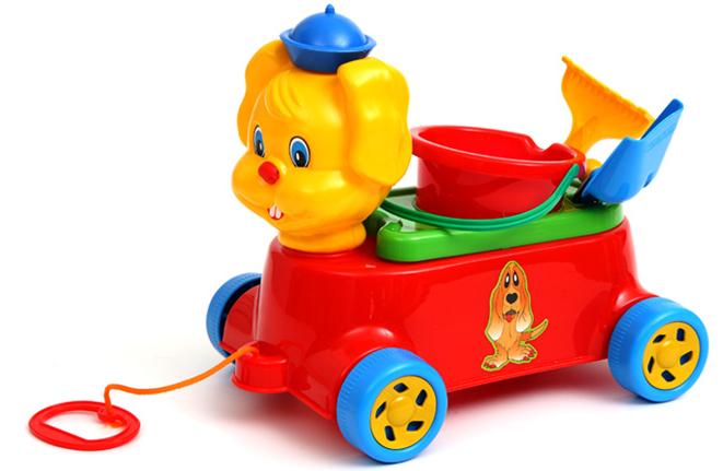 Bērnu automašīna Trusis ar smilšu mantām SUCHANEK 435