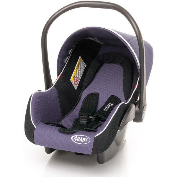 Bērnu autosēdeklis 0-13 kg ar kāju pārvalku 4baby COLBY purple