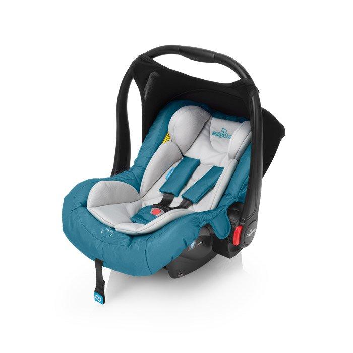 Bērnu autosēdeklis 0-13 kg ar kāju pārvalku Baby Design LEO 05 turquoise FB-802