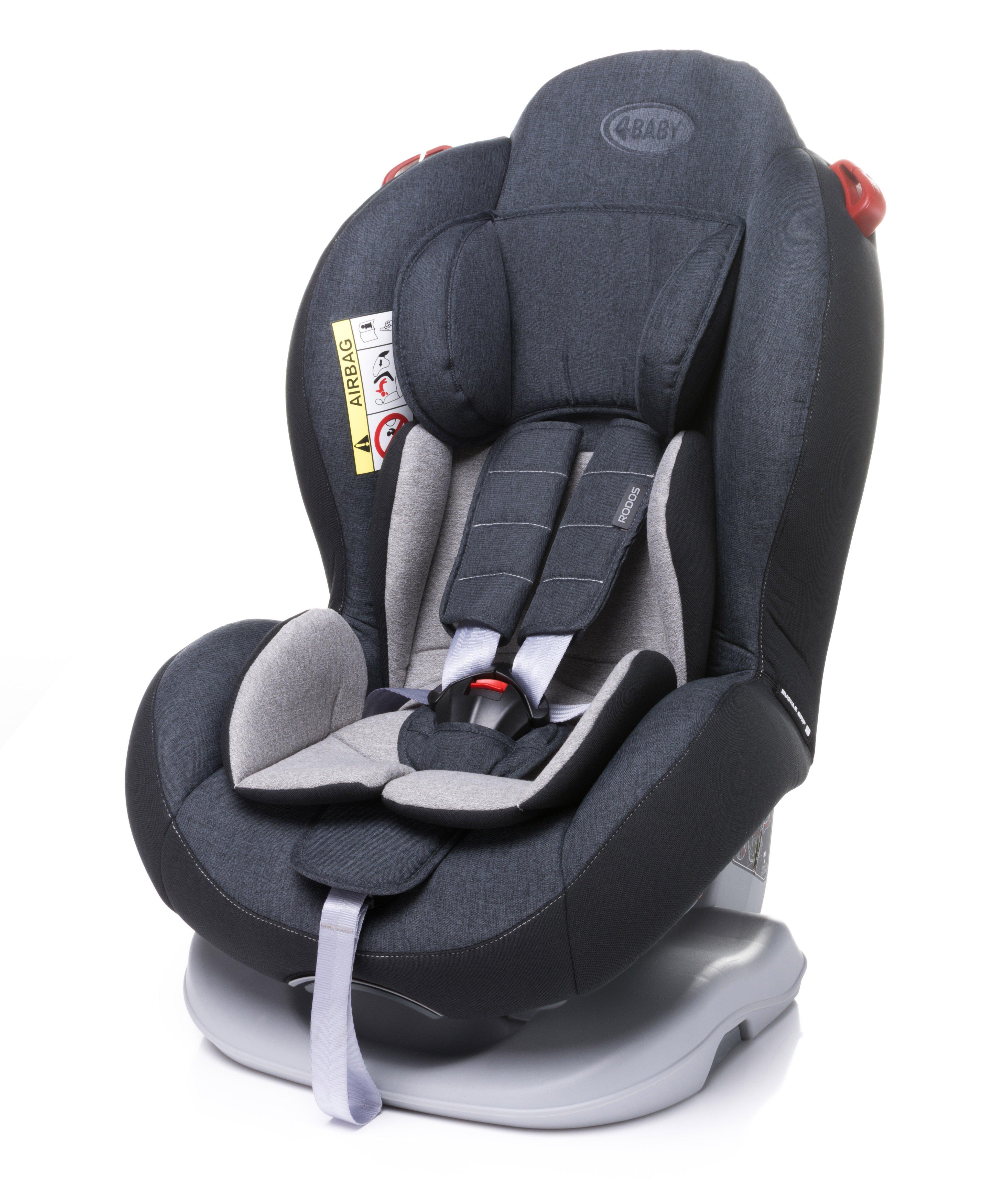 Bērnu autosēdeklis 0-25 kg 4BABY RODOS dark grey