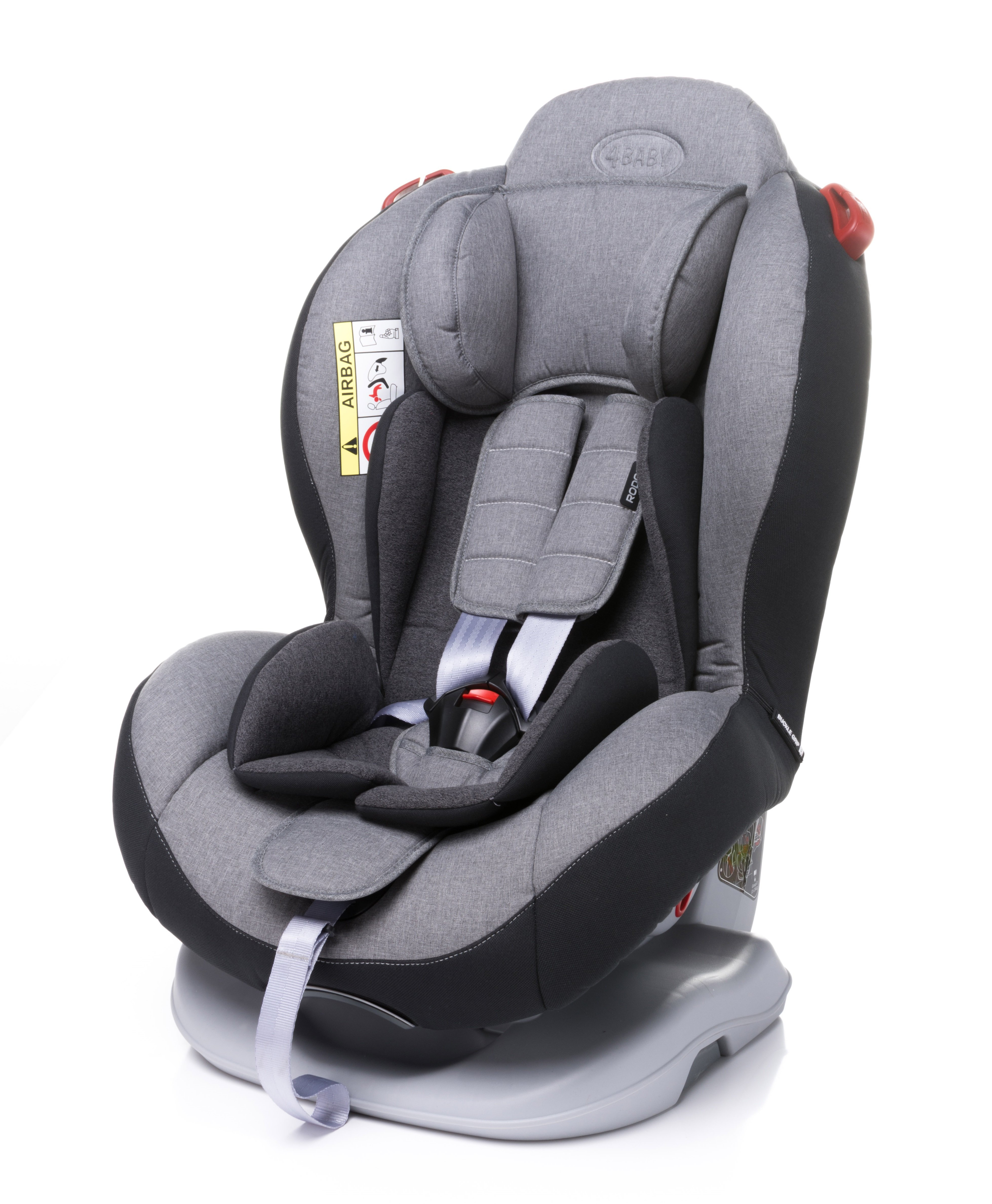 Bērnu autosēdeklis 0-25 kg 4BABY RODOS light grey