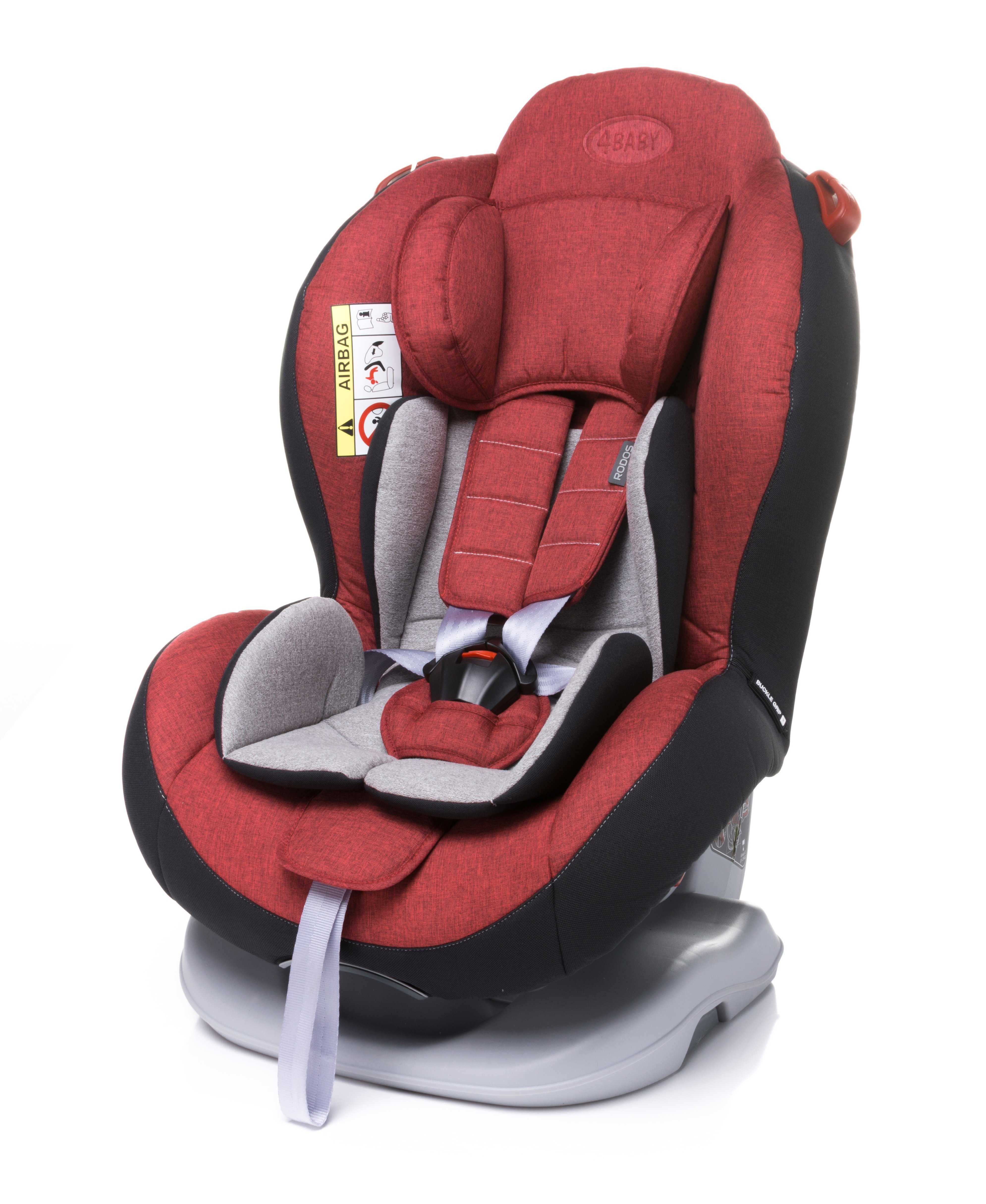 Bērnu autosēdeklis 0-25 kg 4BABY RODOS red