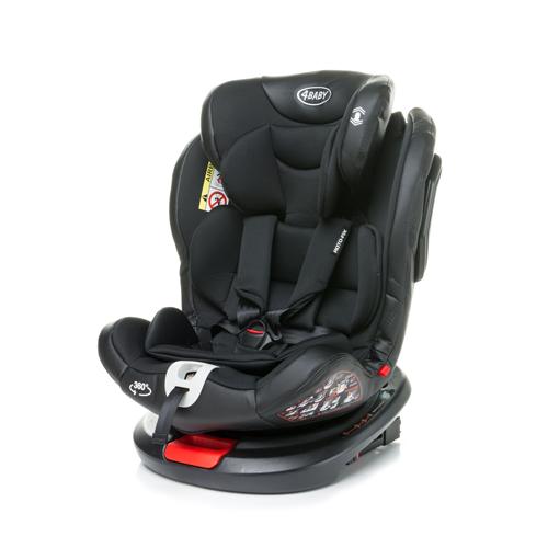 Bērnu autosēdeklis 0-36 kg 4BABY ROTO-FIX black Isofix