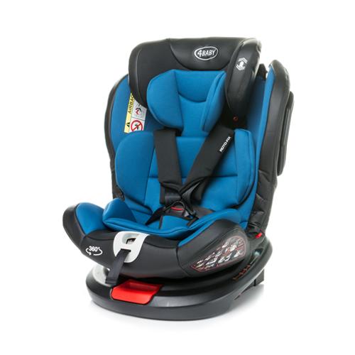 Bērnu autosēdeklis 0-36 kg 4BABY ROTO-FIX blue Isofix
