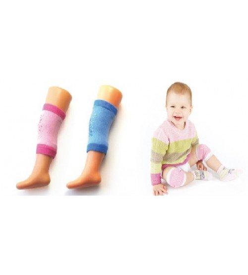 Bērnu ceļgalu aizsargi ABS pret slīdēšanas Rozā / zila NK-01