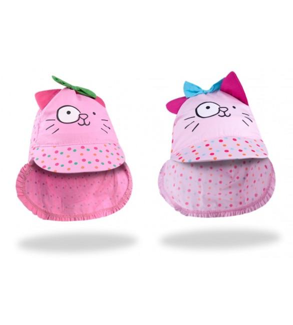 Bērnu cepure-bandana YOclub PINK CAT CLE-097