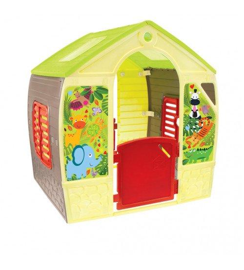 Bērnu dārza mājiņa MOCHTOYS HAPPY HOUSE 102x88x108 cm 11976