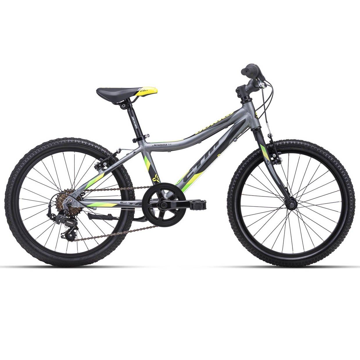 """Bērnu divritenis velosipēds CTM 20"""" Jerry 1.0 matte gray yellow 43.025"""