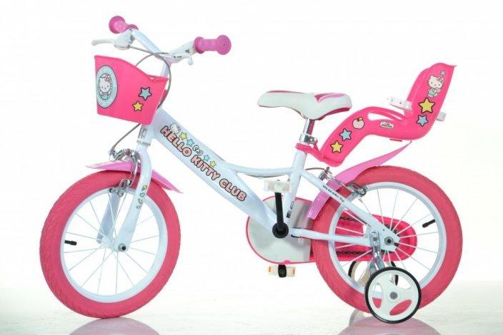 "Bērnu divritenis velosipēds Dino bikes Hello Kitty 14"" 144R-HK2"