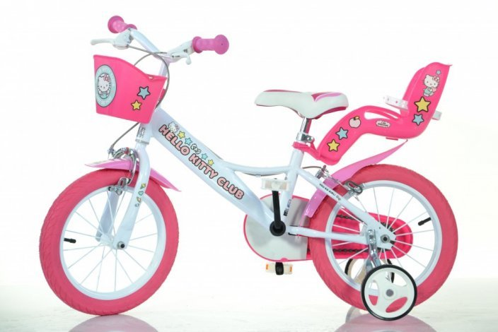 "Bērnu divritenis velosipēds Dino bikes HELLO KITTY 16"" 164R-HK2"