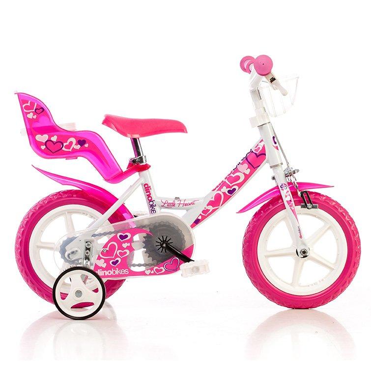 """Bērnu divritenis velosipēds Dino bikes Little Heart 12"""" 124RLN-05LH"""