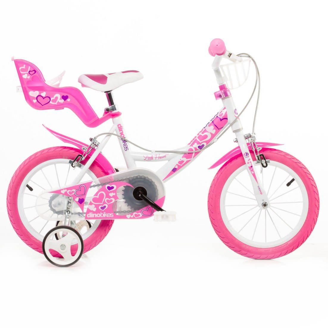 "Bērnu divritenis velosipēds Dino bikes Little Heart 16"" 164RN-05LH"
