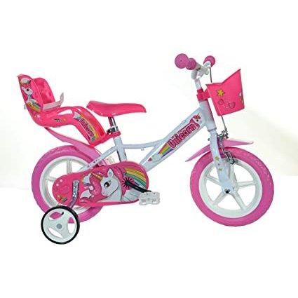 "Bērnu divritenis velosipēds Dino bikes Unicorn 12"" 124RL-UN"