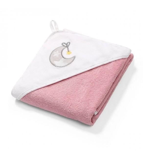 Bērnu dvielis ar kapuci BabyOno 100x100 cm 142/10 pink