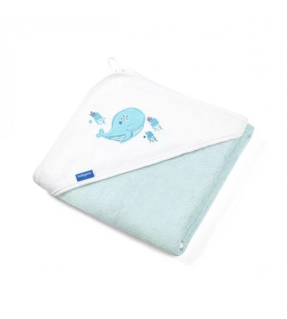 Bērnu dvielis ar kapuci Bambusa BabyOno 85x85 cm 343/05 blue