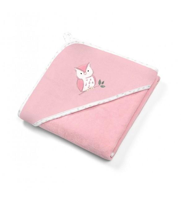 Bērnu dvielis ar kapuci Velūra 100x100 cm BabyOno 540/03 pink