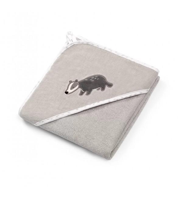 Bērnu dvielis ar kapuci Velūra 76x76 cm BabyOno 538/02 grey