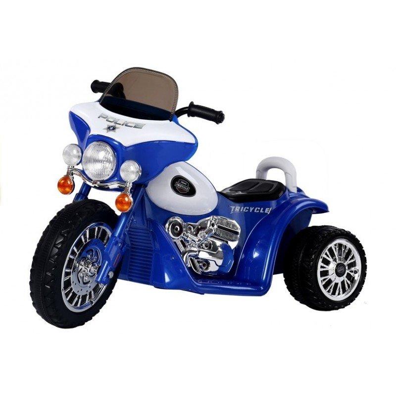 Bērnu elektro motocikls TLC Baby Moto Police Blue WDJT568