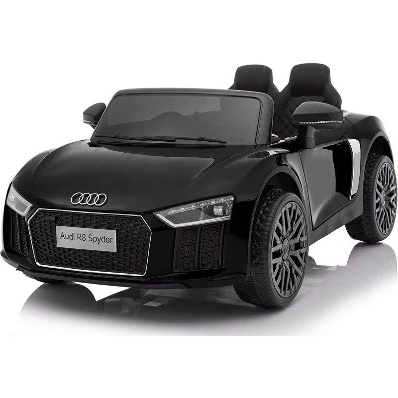 Bērnu elektromobīlis ar pulti AUDI R8 Spyder black