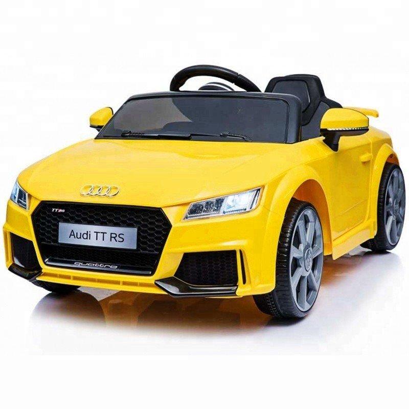 Bērnu elektromobilis ar pulti AUDI TT RS 12V Yellow