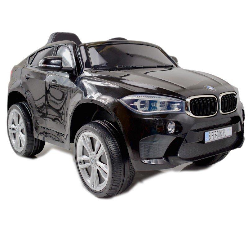 Bērnu elektromobilis ar pulti BMW X6M black WDJJ2199