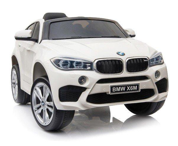 Bērnu elektromobilis ar pulti BMW X6M White WDJJ2199