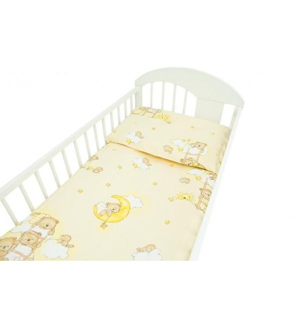 Bērnu Flaneļa gultas veļa: 2 daļas virspalags+spilvendrāna Ankras LADDERS K-2 yellow
