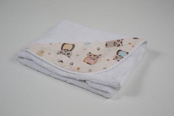 Bērnu frotē dvielis ar kapuci Troll Towel with Hood Owls THFE01